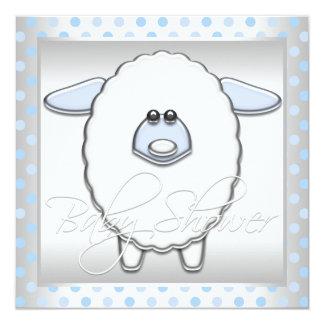 Boys Sheep Baby Shower Card
