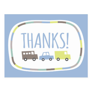 Boys Toys Kid's Birthday Party Thank You Note Card Postcard