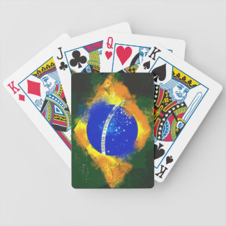 BR Brasil brazilian flag Bicycle Playing Cards