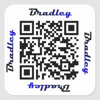 Brad (Bradley) QR Code Personalized NAME Sticker