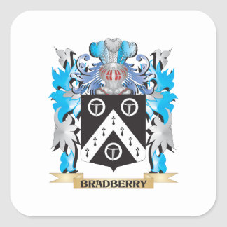 Bradberry Coat of Arms Square Sticker