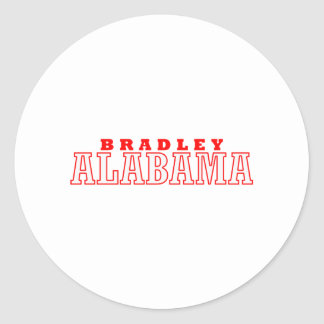 Bradley, Alabama City Design Classic Round Sticker