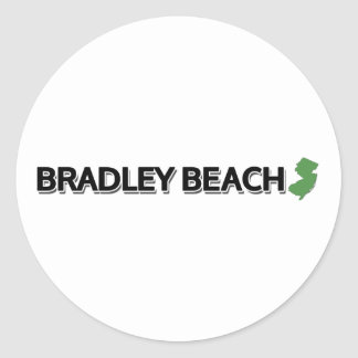 Bradley Beach, New Jersey Classic Round Sticker