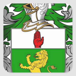 BRADLEY COAT OF ARMS SQUARE STICKER