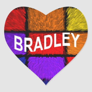 BRADLEY ( male names ) Heart Sticker