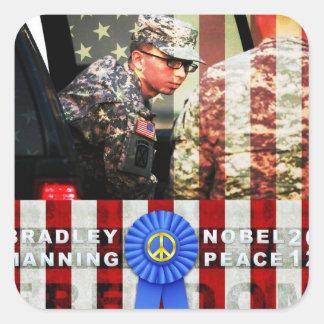 Bradley Manning for Nobel Peace Prize Square Sticker
