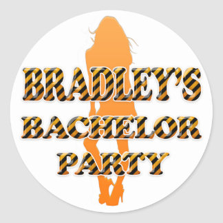 Bradley's Bachelor Party Classic Round Sticker