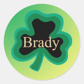 Brady Irish Round Stickers