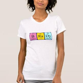 Brady periodic table name shirt