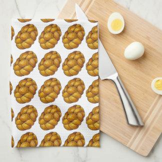 Braided Challah Bread Chanukah Hanukkah Food Towel