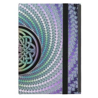 Braided Rug Fractal  Metallic Pastel Rainbow Knot iPad Mini Cover