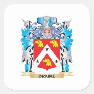 Braime Coat of Arms Sticker