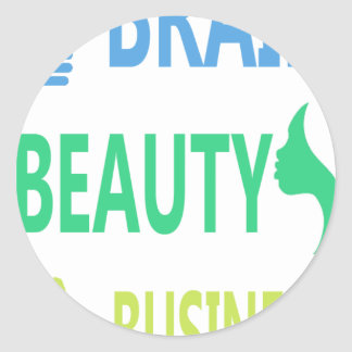Brain Beauty Business Classic Round Sticker