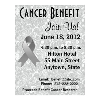 Brain Cancer Awareness Benefit Gray Floral Flyer