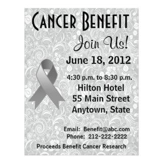 Brain Cancer Awareness Benefit Gray Floral Flyer