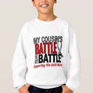 Brain Cancer MY BATTLE TOO 1 Cousin (Male) Sweatshirt