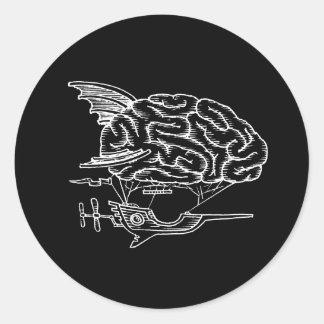 Brain Zeppelin Sticker (Black)