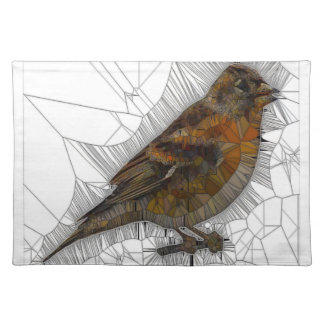 Bramble Finch Stained Glass Placemat