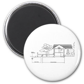 branch plants architecture drawing marries of prof 6 cm round magnet