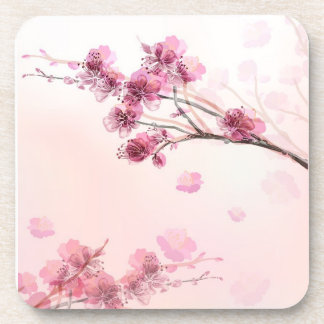 Branch with Pink Blossoms Coaster