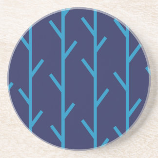 Branches blue sandstone coaster