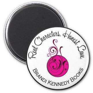 Brandi Kennedy Logo Magnet, Round 6 Cm Round Magnet
