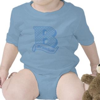 Brandon Monogram Baby Bodysuit