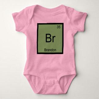 Brandon Name Chemistry Element Periodic Table Baby Bodysuit