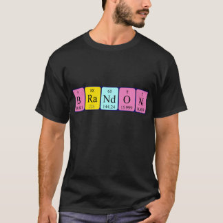 Brandon periodic table name shirt