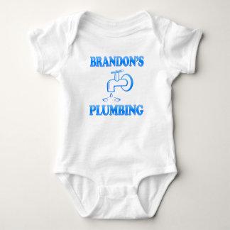 Brandon's Plumbing Baby Bodysuit