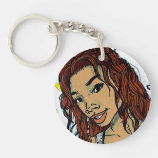Brandy Norwood Single-Sided Round Acrylic Key Ring