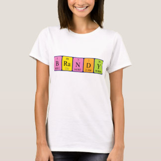 Brandy periodic table name shirt