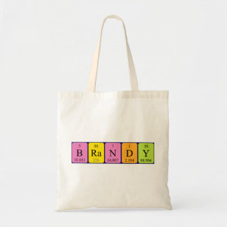 Brandy periodic table name tote bag