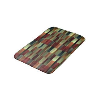 Brandy Wine Pattern Bath Mat