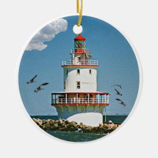 Brandywine Shoal Lighthouse Christmas Ornament