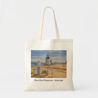 Brant Point Fisherman - Nantucket Tote Bag