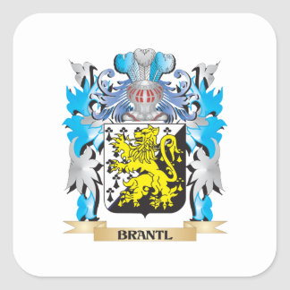 Brantl Coat of Arms Square Stickers