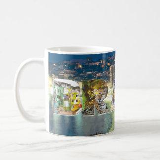 Brasil, Photo Letters & Cityscape Coffee Mug