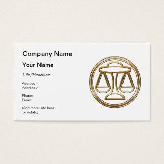 Brass and Copper Libra Zodiac Astrology Business Card
