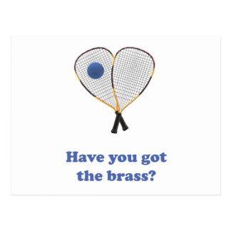 Brass Racquetball Postcard