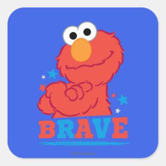 Brave Elmo Square Sticker