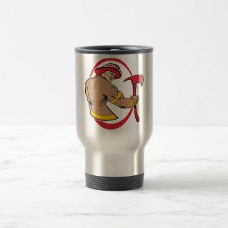 Brave Fireman Travel Mug