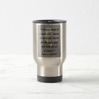 Brave Man - James Garfield Travel Mug