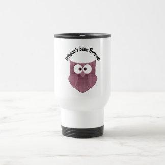 Brave Pink Owl Travel Mug