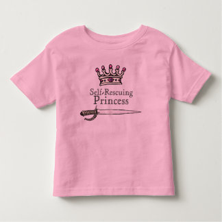 Brave, Sword, Self-Rescuing , Princess, Feminist, Toddler T-Shirt