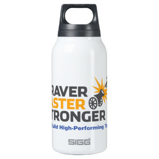Braver Faster Stronger - Logo Insulated Water Bottle