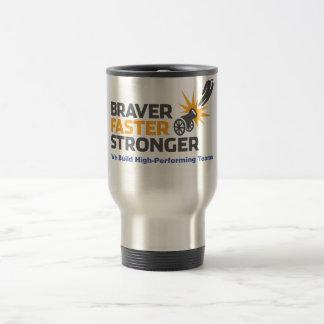 Braver Faster Stronger - Logo Stainless Steel Travel Mug