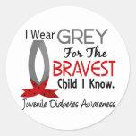 Bravest Child I Know Juvenile Diabetes Round Sticker