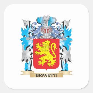 Bravetti Coat of Arms Square Sticker