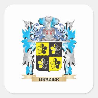 Brazier Coat of Arms Square Sticker